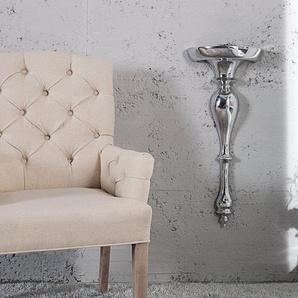 Barocke Wandkonsole SCALA 60cm silber Aluminium Wandregal