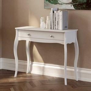 Barockstil Konsolentisch in Weiß 100 cm breit