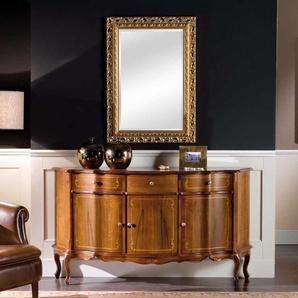 Barockstil Möbel in Nussbaum und Goldfarben Spiegel (2-teilig)