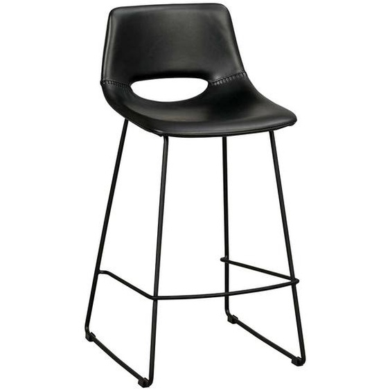 Barstühle in Schwarz Kunstleder modern (2er Set)