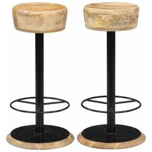 Barstühle 2 Stk. 38 x 38 x 76 cm Massivholz Mango - VIDAXL