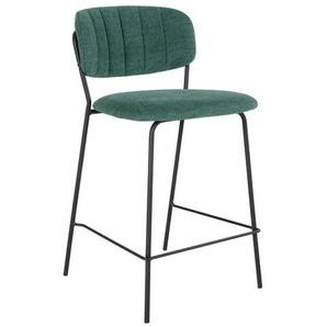 Barstühle in Grün Webstoff Skandi Design (2er Set)
