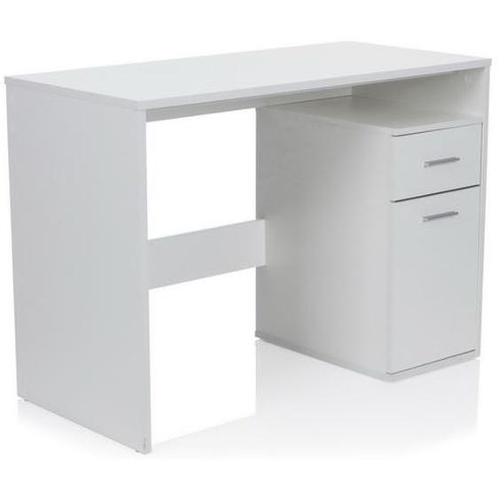 BASIX | 105x50 - Schreibtisch Weiß