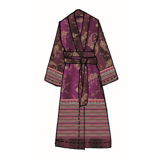 Bassetti Kimono Lila , Textil , Ornament