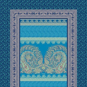 Bassetti Kuscheldecke, Blau, Baumwolle 135 x 190 cm