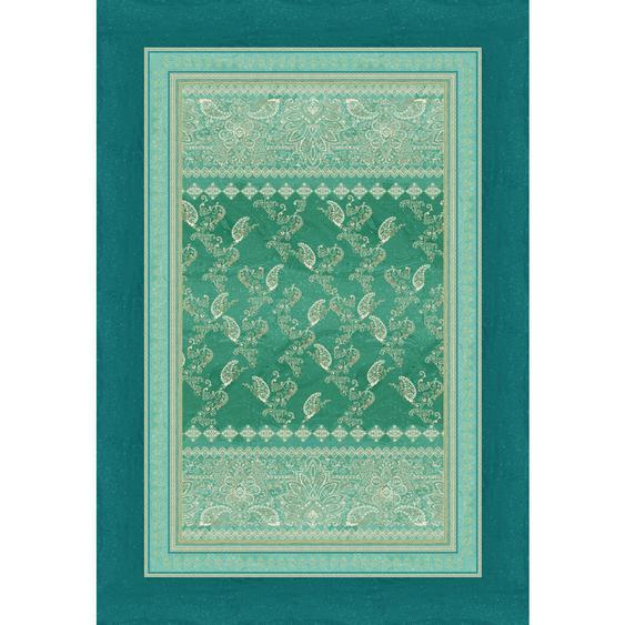 Bassetti Plaid 135/190 cm Türkis , Textil , Ornament , 135 cm