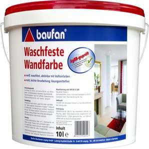 Baufan Wandfarbe, waschfest 10l