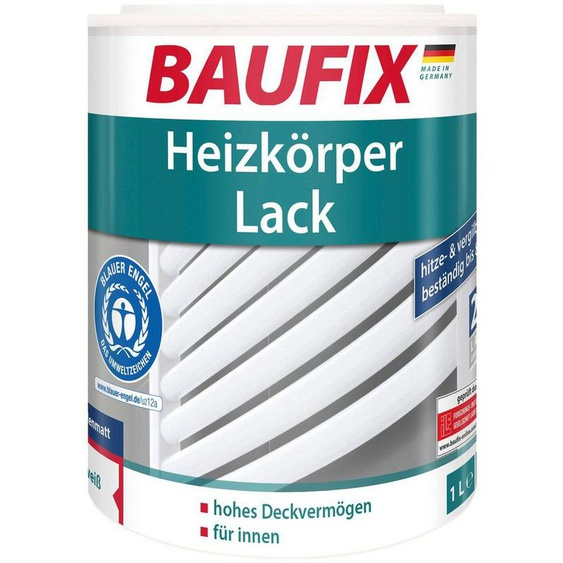 Baufix Heizkörperlack »seidenmatt«, 1 Liter, weiß