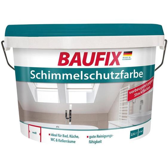 Baufix Feuchtraumfarbe »Schimmelschutzfarbe«, 2,5 l, Innenbereich
