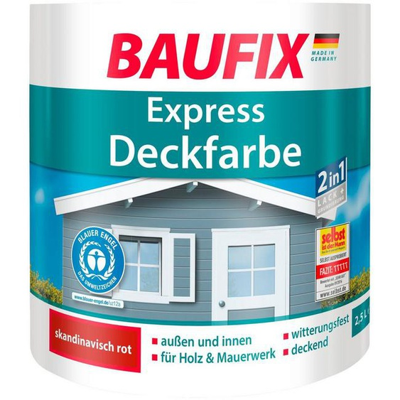 Baufix Lack, 2,5 Liter, rot