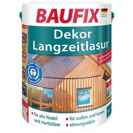 BAUFIX Dekor-Langzeitlasur, 5 Liter