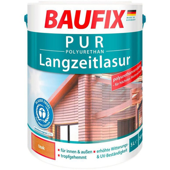 Baufix Holzschutzlasur »Teak«, 5 Liter, braun