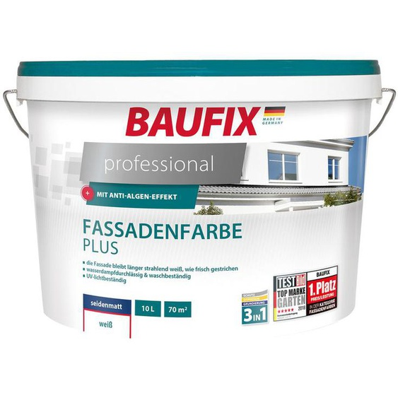BAUFIX professional Fassadenfarbe Plus, 10 Liter