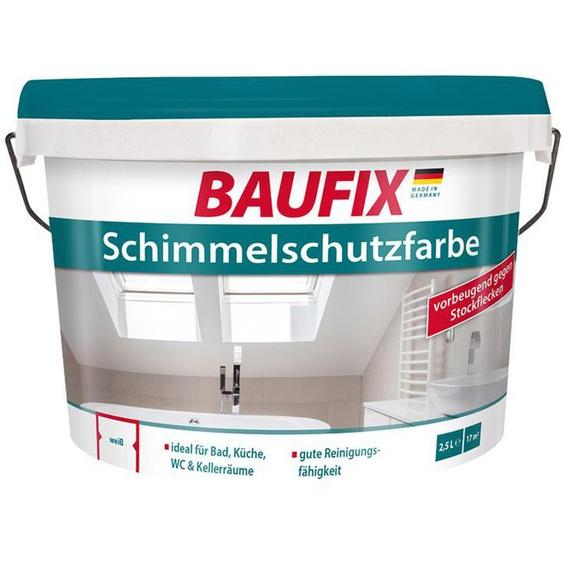 BAUFIX Schimmelschutzfarbe weiß, 2,5 Liter