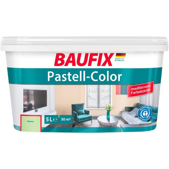 Baufix Wand- und Deckenfarbe »Pastell«, 5 Liter, grün