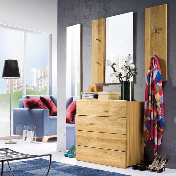 Baumkanten Garderobenmöbel aus Eiche Massivholz Landhaus Design (4-teilig)