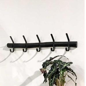 Baumstamm Wandgarderobe in Anthrazit 100 cm breit