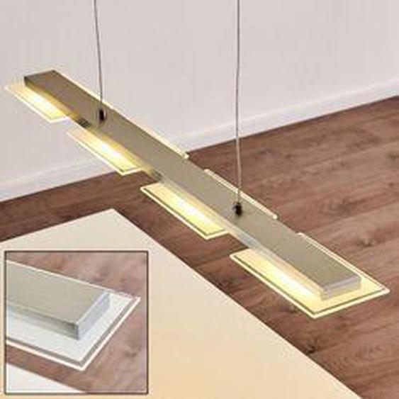 Beaver Pendelleuchte LED Stahl gebürstet, 4-flammig - Modern - Innenbereich - versandfertig innerhalb von 2-4 Werktagen
