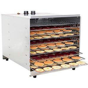 Beeketal BDA-10 Profi Gastro Dörrautomat mit 10 Etagen, Zeitschaltuhr (1-12h) und Temperatur einstellbar (30-75 °C), Dörrgerät Dehydrator zum Trocknen von z.B. Obst, Gemüse oder Gewürzen