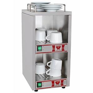Beeketal BTW-1 Profi Gastro Tassenwärmer elektrisch für bis zu ca. 36 Tassen (je nach Tassengröße), 2 Fächer getrennt regelbar, konstante Wärme mit nur 2 x 70W, (B/T/H): ca. 250 x 320 x 550 mm