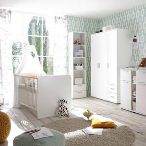 BEGABINO Babybett ,Weiß ,Holz