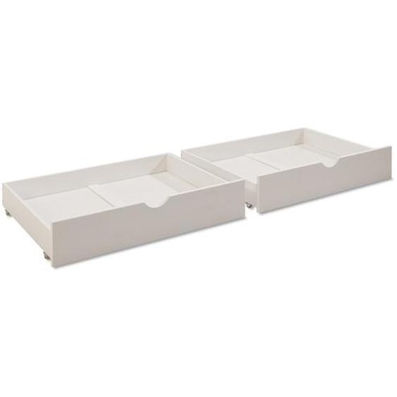 BEGABINO Bettkasten, Kiefer Weiß, Holz