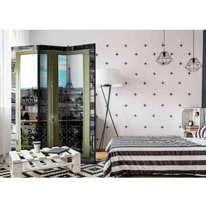 Beidseitig bedruckter Paravent mit Paris Motiv 135 cm breit