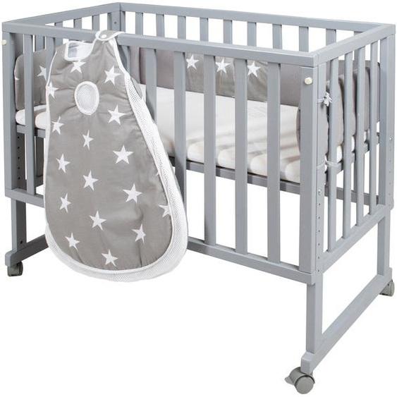 Beistellbett »safe asleep® 3-in-1 Little Stars«, 50x86x90 cm (BxHxT), roba®, Material MDF, Schichtholz,  lackiert