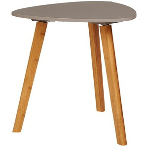 Beistelltisch  Bamboo ¦ grau ¦ Maße (cm): B: 40 H: 40 Tische  Beistelltische  Beistelltische ohne Rollen - Höffner