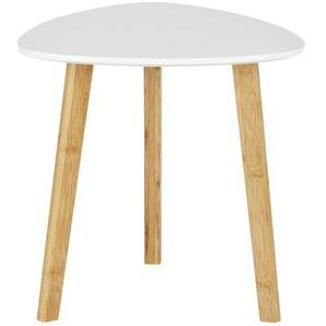 Beistelltisch  Bamboo ¦ weiß ¦ Maße (cm): B: 40 H: 40 Tische  Beistelltische  Beistelltische ohne Rollen - Höffner