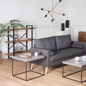 Beistelltisch Beton/schwarz 60 x 60 x 50 cm DELANO