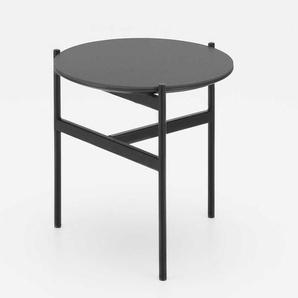 Beistelltisch in dunkel Grau und Schwarz 40 cm breit