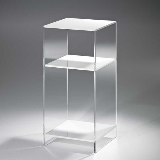 Beistelltisch in Wei� Acrylglas