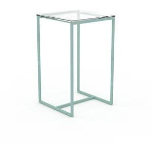 Beistelltisch Kristallglas klar - Eleganter Nachttisch: Hochwertige Materialien, einzigartiges Design - 42 x 70 x 42 cm, Komplett anpassbar
