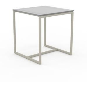 Beistelltisch Kristallglas satiniert - Eleganter Nachttisch: Hochwertige Materialien, einzigartiges Design - 42 x 45 x 42 cm, Komplett anpassbar