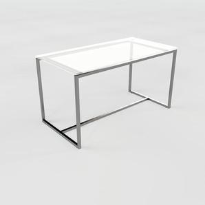Beistelltisch Kristallglas satiniert - Eleganter Nachttisch: Hochwertige Materialien, einzigartiges Design - 81 x 45 x 42 cm, Komplett anpassbar