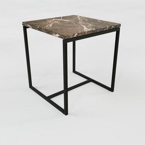 Beistelltisch brauner Emperador, Marmor - Eleganter Nachttisch: Hochwertige Materialien, einzigartiges Design - 42 x 47 x 42 cm, Komplett anpassbar