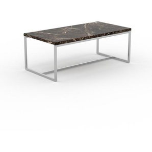 Beistelltisch brauner Emperador, Marmor - Eleganter Nachttisch: Hochwertige Materialien, einzigartiges Design - 81 x 32 x 42 cm, Komplett anpassbar