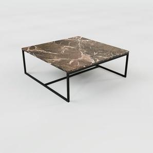 Beistelltisch brauner Emperador, Marmor - Eleganter Nachttisch: Hochwertige Materialien, einzigartiges Design - 81 x 32 x 81 cm, Komplett anpassbar