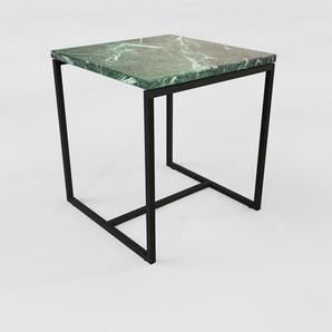 Beistelltisch Marmor, Grüner Guatemala - Eleganter Nachttisch: Hochwertige Materialien, einzigartiges Design - 42 x 46 x 42 cm, Komplett anpassbar