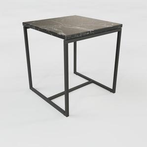 Beistelltisch schwarzer Marquina, Marmor - Eleganter Nachttisch: Hochwertige Materialien, einzigartiges Design - 42 x 47 x 42 cm, Komplett anpassbar