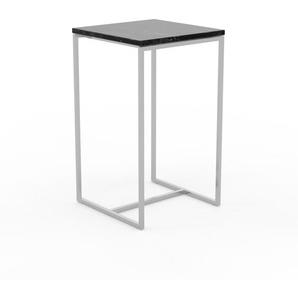 Beistelltisch schwarzer Marquina, Marmor - Eleganter Nachttisch: Hochwertige Materialien, einzigartiges Design - 42 x 72 x 42 cm, Komplett anpassbar