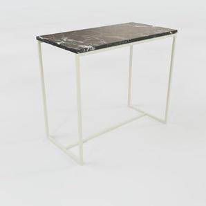 Beistelltisch Marmor, Schwarzer Marquina - Eleganter Nachttisch: Hochwertige Materialien, einzigartiges Design - 81 x 71 x 42 cm, Komplett anpassbar