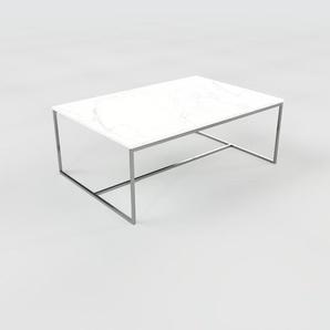 Beistelltisch weißer Carrara, Marmor - Eleganter Nachttisch: Hochwertige Materialien, einzigartiges Design - 121 x 47 x 81 cm, Komplett anpassbar