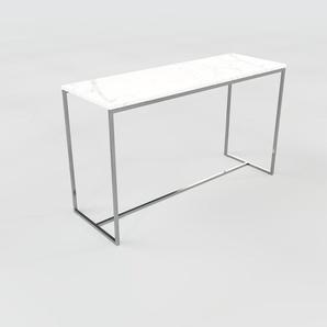 Beistelltisch weißer Carrara, Marmor - Eleganter Nachttisch: Hochwertige Materialien, einzigartiges Design - 121 x 72 x 42 cm, Komplett anpassbar