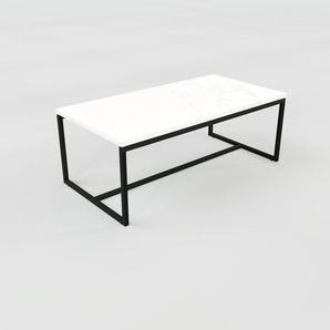 Beistelltisch weißer Carrara, Marmor - Eleganter Nachttisch: Hochwertige Materialien, einzigartiges Design - 81 x 32 x 42 cm, Komplett anpassbar