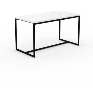 Beistelltisch weißer Carrara, Marmor - Eleganter Nachttisch: Hochwertige Materialien, einzigartiges Design - 81 x 47 x 42 cm, Komplett anpassbar