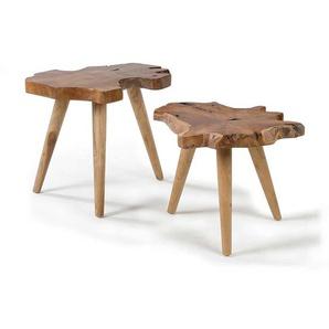 Beistelltisch Massivholztisch 2-teilig (2-teilig)