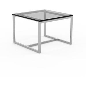 Beistelltisch Rauchglas Schwarz klar - Eleganter Nachttisch: Hochwertige Materialien, einzigartiges Design - 42 x 30 x 42 cm, Komplett anpassbar