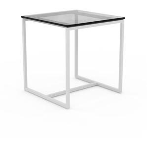 Beistelltisch Rauchglas Schwarz klar - Eleganter Nachttisch: Hochwertige Materialien, einzigartiges Design - 42 x 46 x 42 cm, Komplett anpassbar